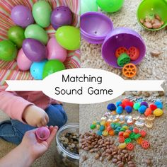 Easter Activity … Fun matching sound game.  Great way to use the sense of hearing!