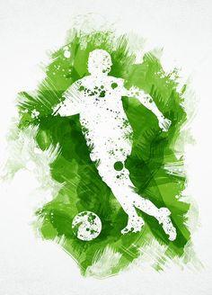 Soccer Art, Soccer Poster, Football Art, Fifa 100, Powerpoint Background Templates, Football Wallpaper, 3d Painting, Sports Art, Watercolor Cards