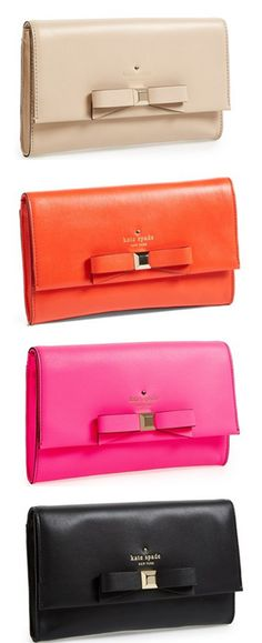 sweet bow clutches by @katespadeny