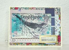 Heart Hugs: Stampendous Jan 2014 Challenge  - a fun entry featuring #Stampendous Postcard Bird. Why not enter our February Challenge Today???