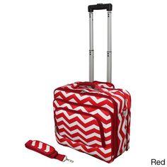 World Traveler Chevron Collection Rolling Computer Bag