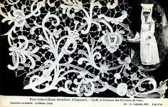Point Colbert (Ecole Dentelliere d'Argentan) - Coiffe et Costume des Environs de Caen    Postcard