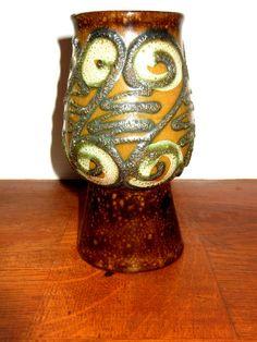Strehla Keramik East German Pottery GDR Mid Century Vase