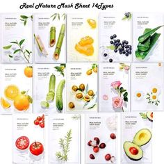 Nature Republic Real Nature Mask Sheet type), Nature made Freshly packed Korean Face Mask, Natural Plant Extract (Pack of [RENEWAL] Face Care, Skin Care, Korean Face Mask, Skincare Packaging, Real Nature, Nature Republic, Acai Berry, Sheet Mask, Royal Jelly