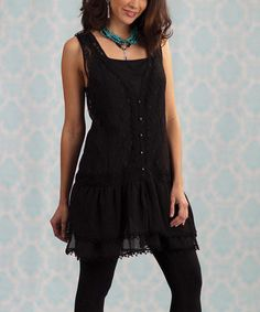 Take a look at this Black Lace Naomi Dress by RU Cowgirl on #zulily today! I hope this looks as cute on as it does in the pic.