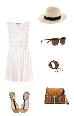 look vestido blanco informal