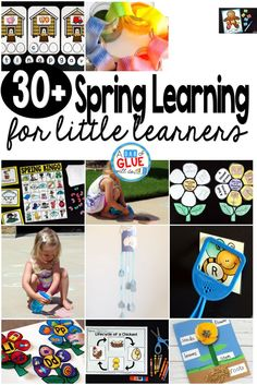 Spring Learning for kids - A Dab of Glue Will Do #springactivities #kidsactivities