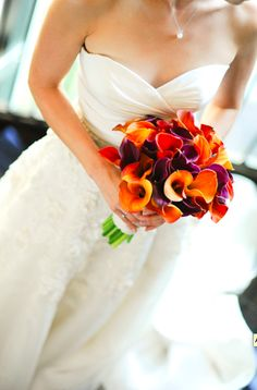 Orange purple bouquet