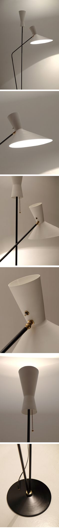 Professor D. Moor, Floor Lamp, Switzerland,