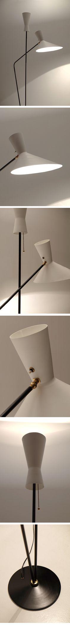 Professor D. Moor, Floor Lamp, Switzerland,