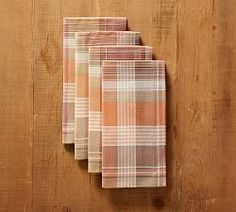 Plaid is timeless. In warm harvest colors, our yarn-dyed Newton Plaid Napkins add a cheerful seasonal accent to a table setting. Layer them with the matching runner for a complete look. Printed Napkins, Linen Napkins, Napkins Set, Table Throw, A Table, Thanksgiving Dinnerware, Thanksgiving Table, Rustic Fall Decor, Wall Candle Holders