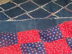 Finished Denim Rag Quilt Close-up of backing Denim Quilt Patterns, Beginner Quilt Patterns, Bag Patterns, Quilting Ideas, Quilting Projects, Rag Quilt Instructions, Blue Jean Quilts, Denim Crafts, Jean Crafts
