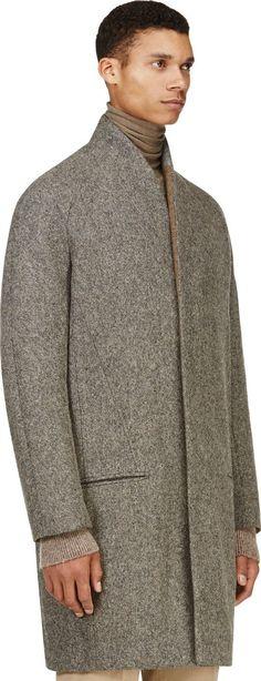 Farb-und Stilberatung mit www.farben-reich.com - Haider Ackermann: Grey Minimalist Wool Coat