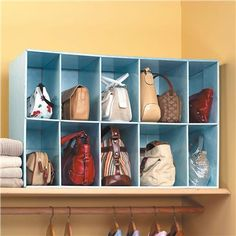 Purse storage for the top of my closet