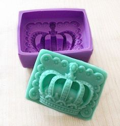 Imperial crown Soap Mold Flexible Silicone Mould For Handmade Soap Candle Candy Cake Fimo Resin Crafts Soap Molds, Silicone Molds, Jello Molds, Resin Molds, Savon Soap, Bath Bomb Molds, Diy Crown, Candle Molds, Cake Mold