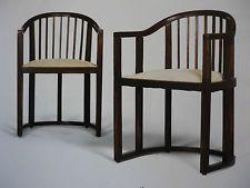 1 Paar Armlehnstühle, Josef Hoffmann zugeschrieben, Wien 1902/03
