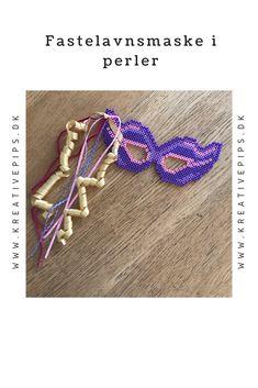 Lav din egen farverige fastelavnsmaske i perler Beaded Bracelets, Diy, Jewelry, Hama, Prepping, Creative, Jewlery, Bricolage, Bijoux