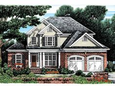 Colonial House Plan with 2466 Square Feet and 4 Bedrooms(s) from Dream Home Source | House Plan Code DHSW32174