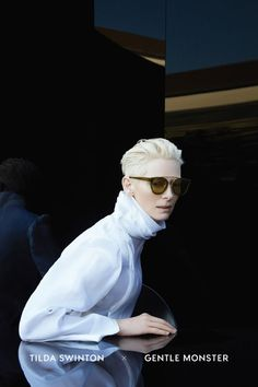 4878abf69cda Gentle Monster x Tilda Swinton Hair Style Men 2017