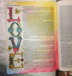 Bible journaling, illustrated faith, 1 Corinthians 13