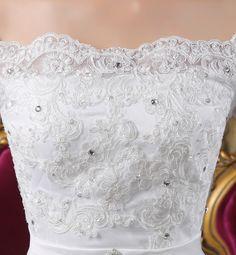 2015 vestidos de baile vestido de casamento strapless backless bandage floor_length vestido de noiva apliques de contas detalhe vestidos de noiva em Vestidos de noiva de Casamentos e Eventos no AliExpress.com | Alibaba Group