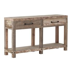 Reclaimed Wood Console Table For Hallway UK Console Table Uk, Console Storage, Storage Drawers, Consoles, Into The Woods, Furniture Care, Hazelwood Home, Industrial Style, Vintage Furniture