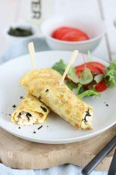 Omelet, High Tea, Paleo, Brunch, Healthy Recipes, Healthy Food, Health Fitness, Snacks, Breakfast