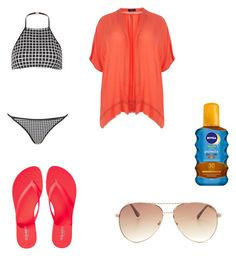 Day at the beach by fashionbeautyblogger99 on Polyvore featuring polyvore, fashion, style, Topshop, Old Navy, Steve Madden and Nivea