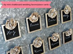 Serendipity Vintage Studio: DIY Mini Chalkboard Wedding Favors #craftbasics