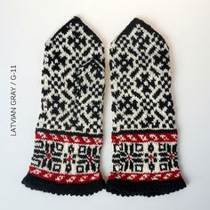 Ravelry: The Latvian Traditional Mitten Pattern - Latvian Gray, Pattern G-11 pattern by Traditional Design
