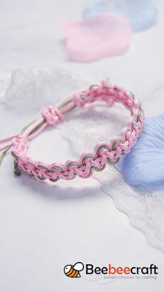 #Beebeecraft tutorial on making braided #bracelet with #nylonthread #braceletmaking #diy