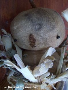 Dumplin A Primitive Pumpkin Doll From The Red by Theredcupboard, $64.95