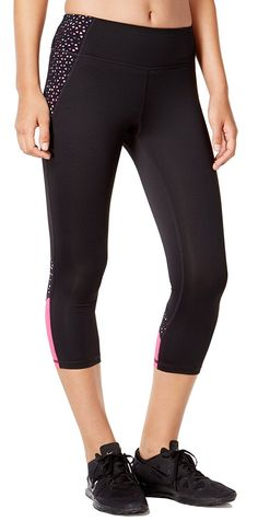 dde47654172312 Ideology Womens Cropped Leggings Medium Noir *** Find out more about the  great product
