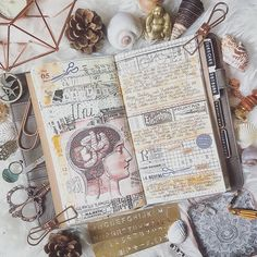 Creative planner pages with journaling