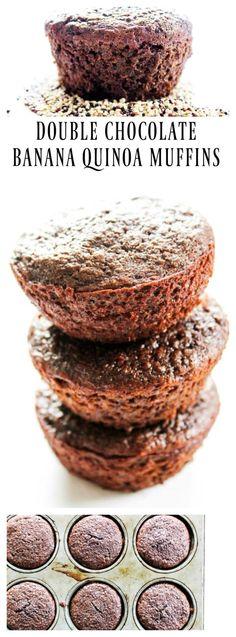 Double Chocolate Banana Quinoa Muffins