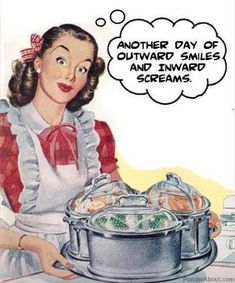 Vintage retro humor ~ Smiles and screams