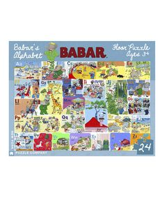 Look at this Babar's Alphabet Floor Puzzle on #zulily today!
