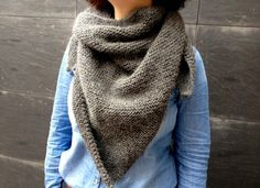 Huge but probably easy to knit up. Fun in a hot color