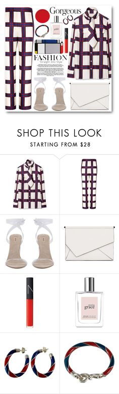 """""""Plaid"""" by alexa-girl2 ❤ liked on Polyvore featuring Tory Burch, Kendall + Kylie, NARS Cosmetics, philosophy and Gucci"""
