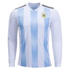 e186c2454 2018 World Cup Jersey Argentina LS Home Replica Blue Shirt 2018 World Cup  Jersey Argentina LS Home Replica Blue Shirt