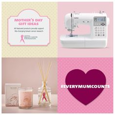 Honour a Mum with a gift that keeps on giving this Mother's Day! Choose from a variety of Pink Products in collaboration with our valued partners who will donate a portion of their sales to breast cancer research.