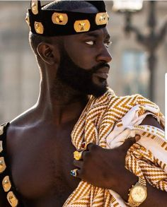 Reposted from - Afrique Heritage/ royalty😍 African Men Fashion, African Beauty, Ankara Fashion, African Style, African Women, My Black Is Beautiful, Beautiful Men, Afro Punk Fashion, Divas