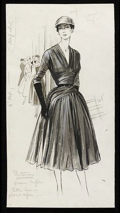 Fashion drawing | Fromenti, Marcel | V  Collections