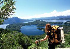 Lago Nahuel Huapi, en la región de Bariloche