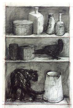 William Kentridge, Drawing for Medicine Chest, 2001//