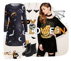 """""""Rosegal-Halloween style"""" by thefashion007 ❤ liked on Polyvore"""