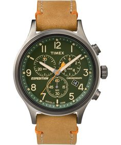 The Timex Expedition® Scout™ Chronograph maintains the classic outdoor design of the original and enhances it with chronograph functionality. It is now as appropriate for the office as it is for the trail.