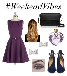 """#WeekendVibes"" by teennetwork ❤ liked on Polyvore featuring Closet, Christian Louboutin, Kate Spade, Marc by Marc Jacobs, Natasha Accessories, Vera Wang, women's clothing, women, female and woman"