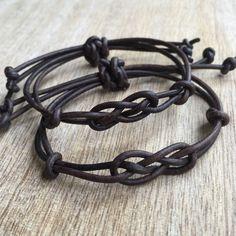 Parejas de pulsera, pulseras de cuero marrón antiguo su pulsera, LC001132                                                                                                                                                                                 Más