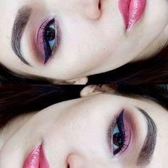 59 отметок «Нравится», 1 комментариев — Juliaskomorokh@gmail.com (@juliaskom) в Instagram: «Ягодный макияж 💄 с продуктами Inglotcosmetics. Подводка в реальности околочерная с фиолетовым…»